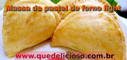 Massa de pastel de forno light