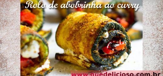 Rolo de abobrinha ao curry